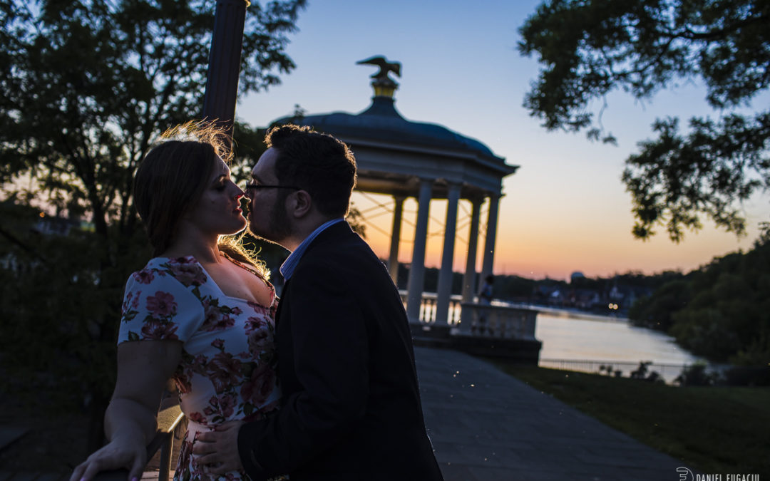 Engagement photos at Waterworks | Selena & Connor