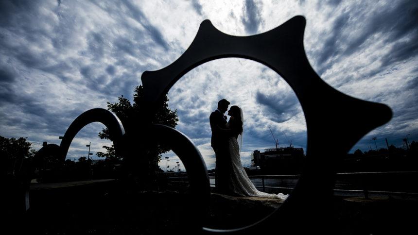 Schuylkill River Park bride groom